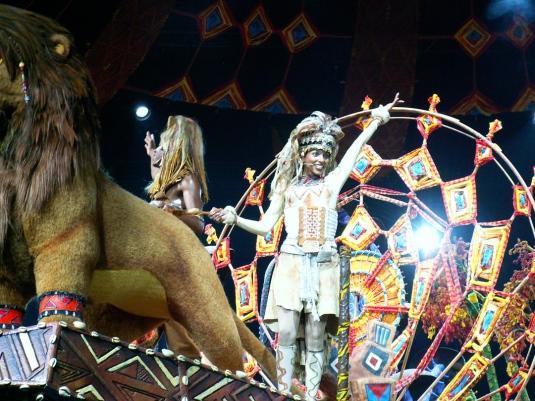 "Nicola in ""The Lion King"" at Hong Kong Disneyland"