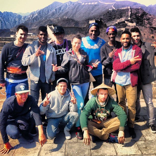 Josue with Bboy crew