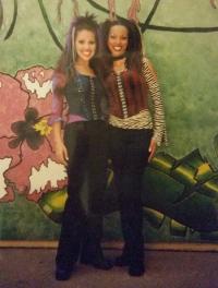 "Nicola with Deniece Alvarado Cueto in ""Tarzan Rocks!"" at WDW"